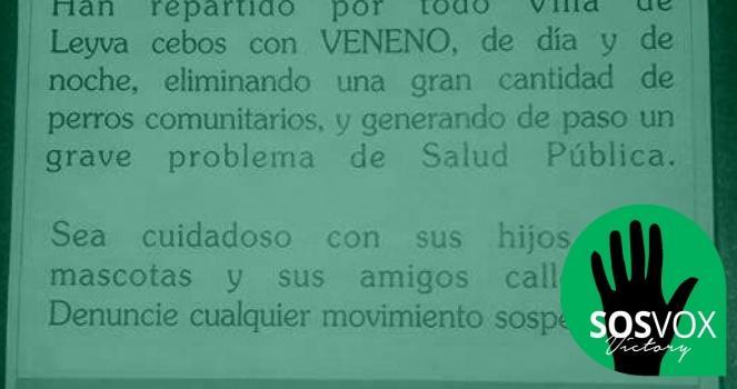 Victoria confirmada! Alcaldía de Villa de Leyva haga algo en contra del envenenamiento de perros callejeros en el pueblo y zonas aledañas